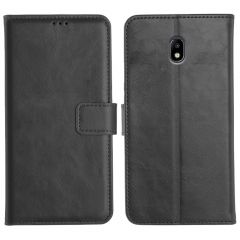 Samsung Galaxy J7 Pro Magnetic Flip Cover Leather Finish Mobile Case - Black