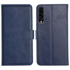 Samsung Galaxy A50S Magnetic Flip Cover Leather Finish Mobile Case - Blue