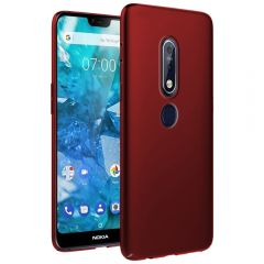 Ultra Slim Matte Back Case Cover for Nokia 7.1 - Wine Red