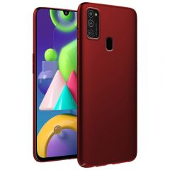 Ultra Slim Matte Back Case Cover for Samsung Galaxy M21 - Wine Red