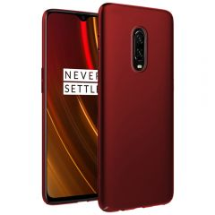 Ultra Slim Matte Back Case Cover for OnePlus 6T - Wine Red