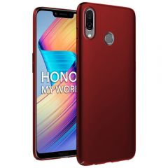 Ultra Slim Matte Back Case Cover for Huawei Honor Play - Wine Red