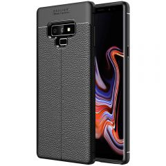 Black Leather Texture Stitch Samsung Note 9 Back Case Cover