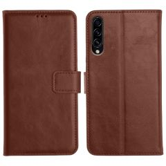 Samsung Galaxy A50S Magnetic Flip Cover Leather Finish Mobile Case - Brown