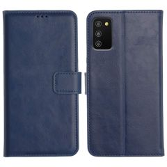 Samsung Galaxy M02S Magnetic Flip Cover Leather Finish Mobile Case - Blue