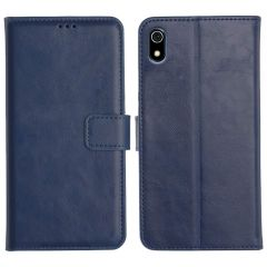 Redmi 7A Magnetic Flip Cover Leather Finish Mobile Case - Blue