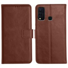 Vivo Y30 Magnetic Flip Cover Leather Finish Mobile Case - Brown