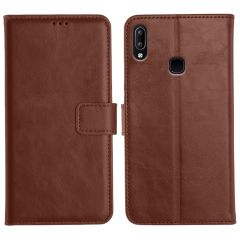 Vivo Y95 Magnetic Flip Cover Leather Finish Mobile Case - Brown