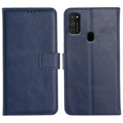 Samsung Galaxy M21 Magnetic Flip Cover Leather Finish Mobile Case - Blue