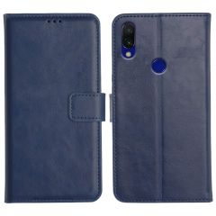 Redmi 7 Magnetic Flip Cover Leather Finish Mobile Case - Blue