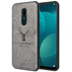 Oppo F11 Back Case Cover Soft Fabric Deer Series - Grey