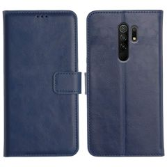 Poco M2 Magnetic Flip Cover Leather Finish Mobile Case - Blue