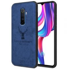Realme X2 Pro Back Case Cover Soft Fabric Deer Series - Blue