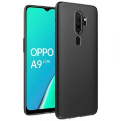 Ultra Slim Matte Back Case Cover for Oppo A9 2020 - Jet Black