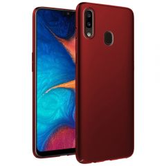 Ultra Slim Matte Back Case Cover for Samsung Galaxy A20 - Wine Red