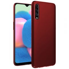 Ultra Slim Matte Back Case Cover for Samsung Galaxy A30S - Wine Red