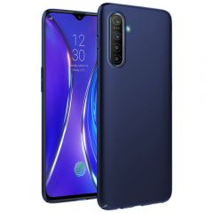Ultra Slim Matte Back Case Cover for Realme XT - Metallic Blue