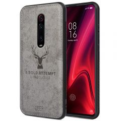 Redmi K20 Pro Back Case Cover Soft Fabric Deer Series - Grey