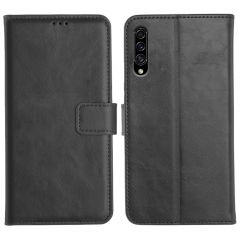 Samsung Galaxy A30S Magnetic Flip Cover Leather Finish Mobile Case - Black