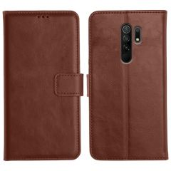 Poco M2 Magnetic Flip Cover Leather Finish Mobile Case - Brown