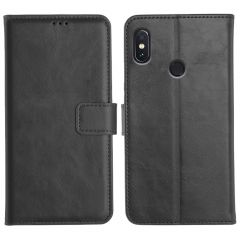 Redmi Note 5 Pro Magnetic Flip Cover Leather Finish Mobile Case - Black