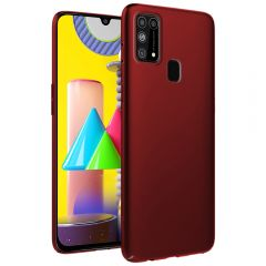 Ultra Slim Matte Back Case Cover for Samsung Galaxy M31 - Wine Red