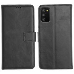 Samsung Galaxy M02S Magnetic Flip Cover Leather Finish Mobile Case - Black