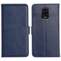 Redmi Note 9 Pro Magnetic Flip Cover Leather Finish Mobile Case - Blue