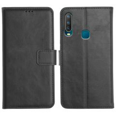 Vivo U10 Magnetic Flip Cover Leather Finish Mobile Case - Black