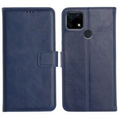 Realme Narzo 30A Magnetic Flip Cover Leather Finish Mobile Case - Blue