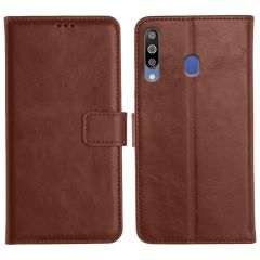 Samsung Galaxy M30 Magnetic Flip Cover Leather Finish Mobile Case - Brown