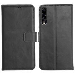 Samsung Galaxy A50S Magnetic Flip Cover Leather Finish Mobile Case - Black