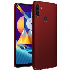 Ultra Slim Matte Back Case Cover for Samsung Galaxy M11 - Wine Red