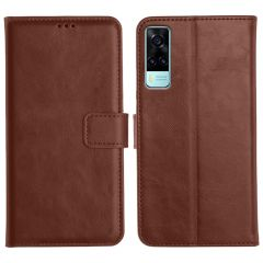 Vivo Y31 Magnetic Flip Cover Leather Finish Mobile Case - Brown