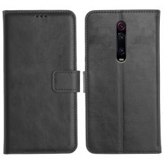 Redmi K20 Magnetic Flip Cover Leather Finish Mobile Case - Black