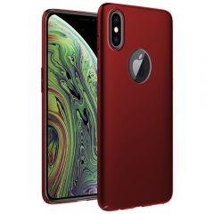 Ultra Slim Matte Back Case Cover for iPhone XS - Wine Red