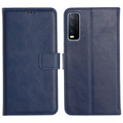 Vivo Y20A Magnetic Flip Cover Leather Finish Mobile Case - Blue