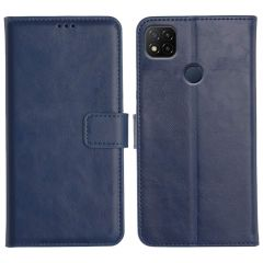 Redmi 9 Magnetic Flip Cover Leather Finish Mobile Case - Blue