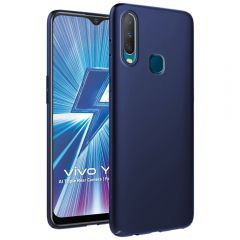 Ultra Slim Matte Back Case Cover for Vivo Y17 - Metallic Blue