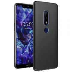 Ultra Slim Matte Back Case Cover for Nokia 5.1 Plus - Jet Black