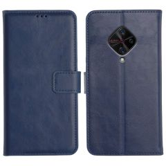 Vivo S1 Pro Magnetic Flip Cover Leather Finish Mobile Case - Blue
