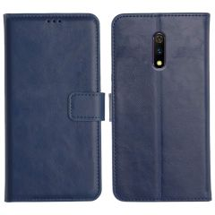 Realme X Magnetic Flip Cover Leather Finish Mobile Case - Blue