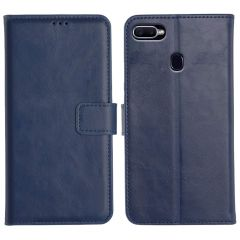 Oppo F9 Pro Magnetic Flip Cover Leather Finish Mobile Case - Blue