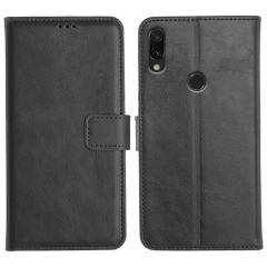 Redmi Y3 Magnetic Flip Cover Leather Finish Mobile Case - Black