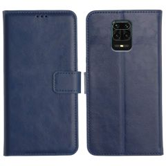 Redmi Note 9 Pro Max Magnetic Flip Cover Leather Finish Mobile Case - Blue