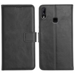 Vivo Y93 Magnetic Flip Cover Leather Finish Mobile Case - Black