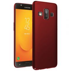 Ultra Slim Matte Back Case Cover for Samsung Galaxy J7 Duo - Wine Red
