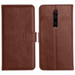Redmi K20 Magnetic Flip Cover Leather Finish Mobile Case - Brown
