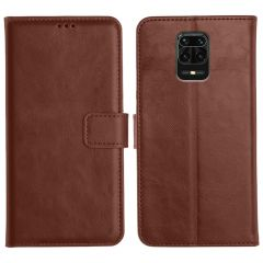 Redmi Note 9 Pro Max Magnetic Flip Cover Leather Finish Mobile Case - Brown