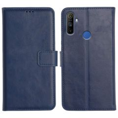 Realme Narzo 10A Magnetic Flip Cover Leather Finish Mobile Case - Blue